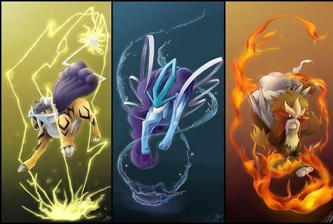 Pokemon - Raikou, Suicune, Entei