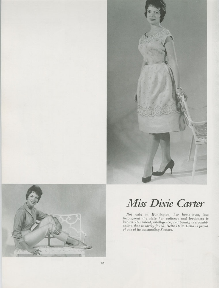 "Dixie Carter (Miss Volunteer, 1960; aka Julia ""I Will Speechify!"" Sugarbaker) (University of Tennessee Special Collections)"