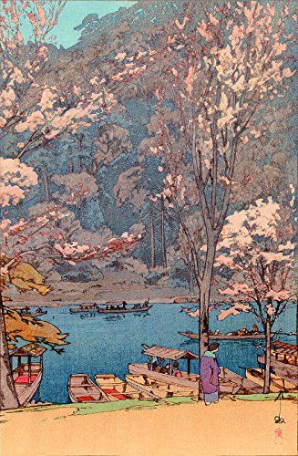 "Japanese Art Print ""Arashiyama"" by Yoshida Hiroshi. Shin Hanga and Art Reproductions http://www.amazon.com/dp/B00Y08Y6YY/ref=cm_sw_r_pi_dp_weTvwb0PW27CR"