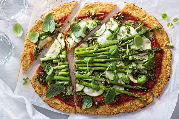 pizza corteza de coliflor