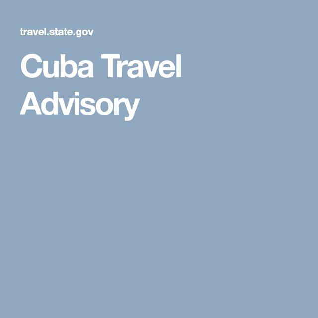 Cuba Travel Advisory