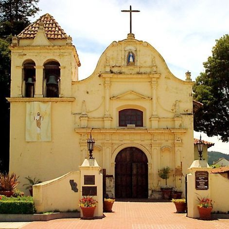 A review of Monterey, California's haunted hotels and restaurants. It makes me want to go! San Carlos Cathedral, part of Carmel's original mission and repurposed as the Presidio's Royal Presidio Chapel.
