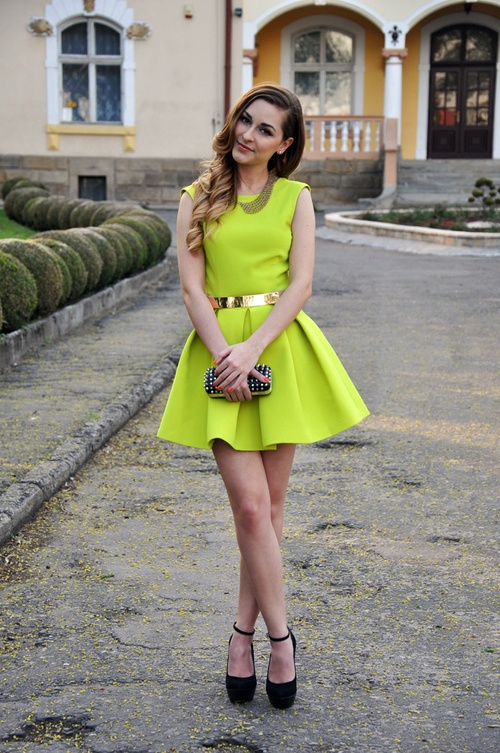 Neon yellow #wedding #guest #dress | Outdoor Wedding guest ...