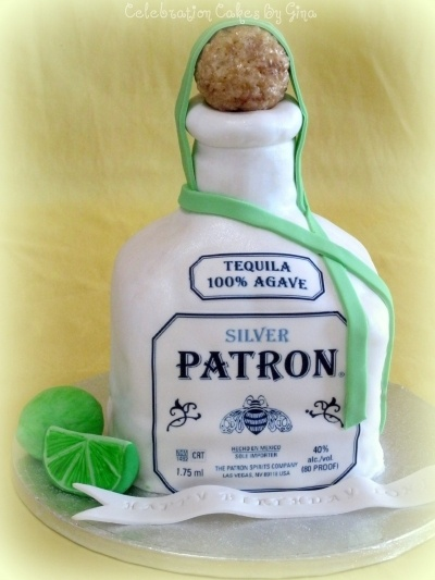 How To Make A D Patron Bottle Cake