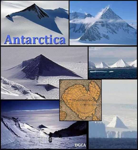 September 13, 2012 - Pyramids have been discovered in the Antarctic, according to a news article on Scienceray.com. A team of 8 explorers from America and Europe claim to have found evidence of three man made pyramids 'peaking' through the melting ice