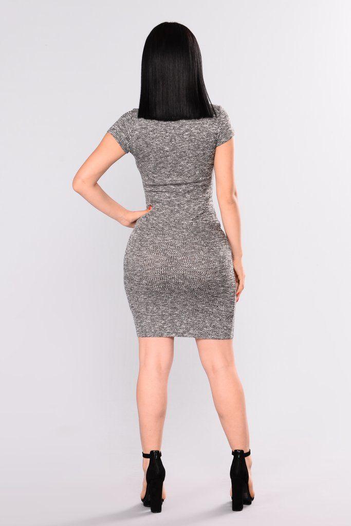 Tinsley Knit Dress - Black/White