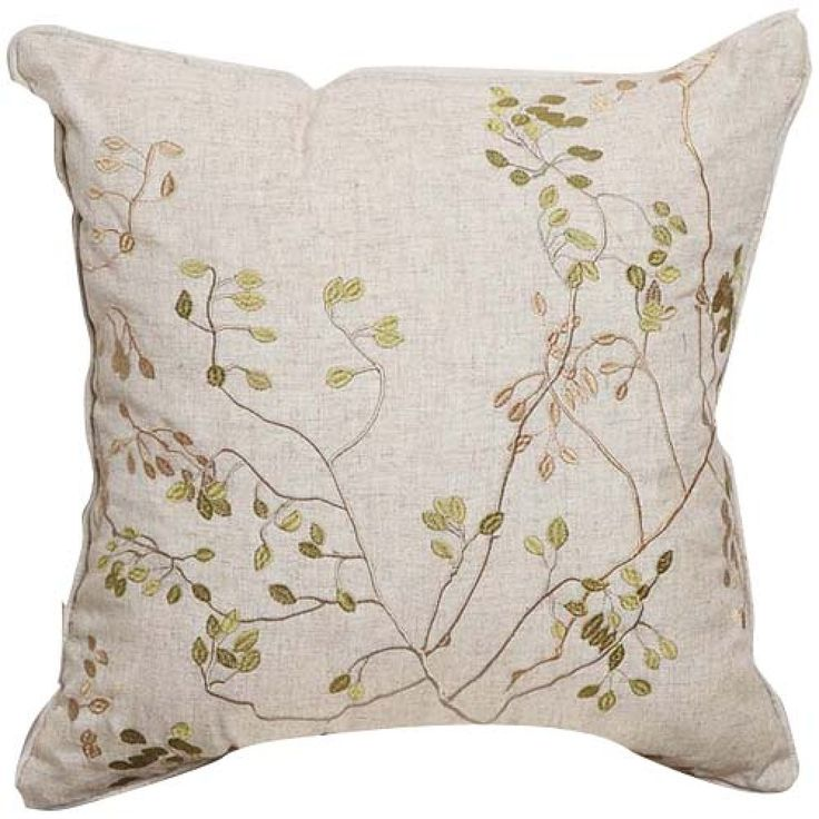 Elegant Embroidery Linen Decorative Pillow Cover  #cushions #pillows #decor #pattern #country #homedecor #livingroom