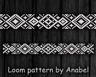 Bead loom pattern Square stitch pattern by ColorfulBeadPatterns
