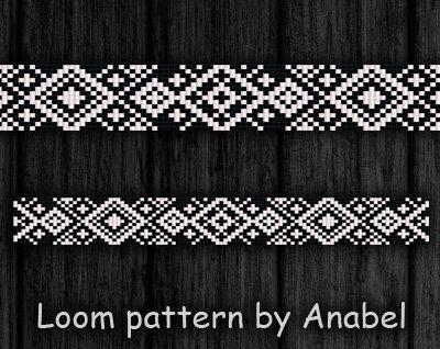 Bead loom pattern Square stitch pattern by ColorfulBeadPatterns