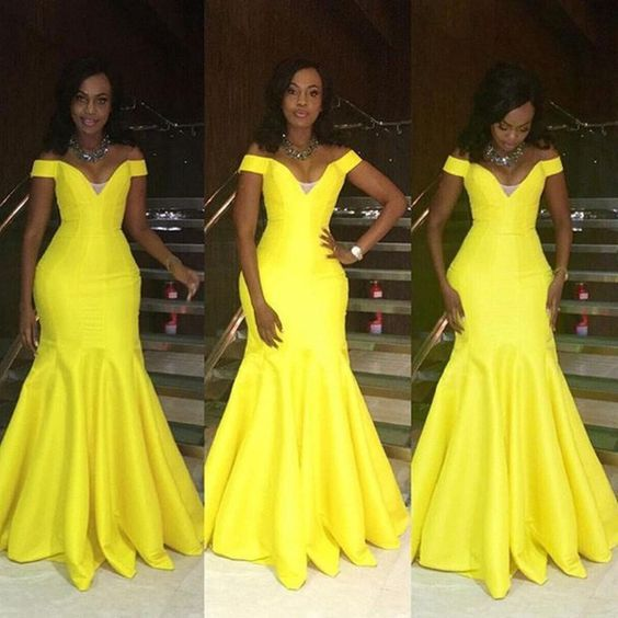 Top Ten Beautiful Yellow Cord Lace Aso Ebi Styles To Rock  Dabonke