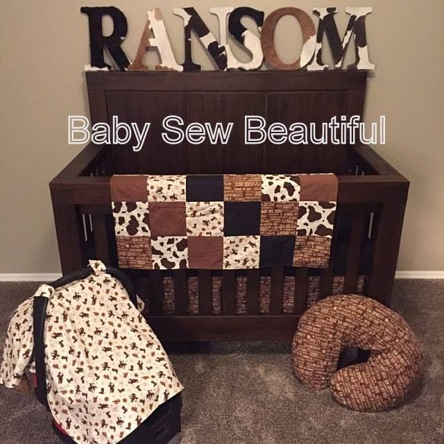 Western Crib Bedding Set, Horseshoes, Cowboy Baby Bedding, Cowgirl, Baby Bedding, Nursery Bedding, Custom Baby Bedding