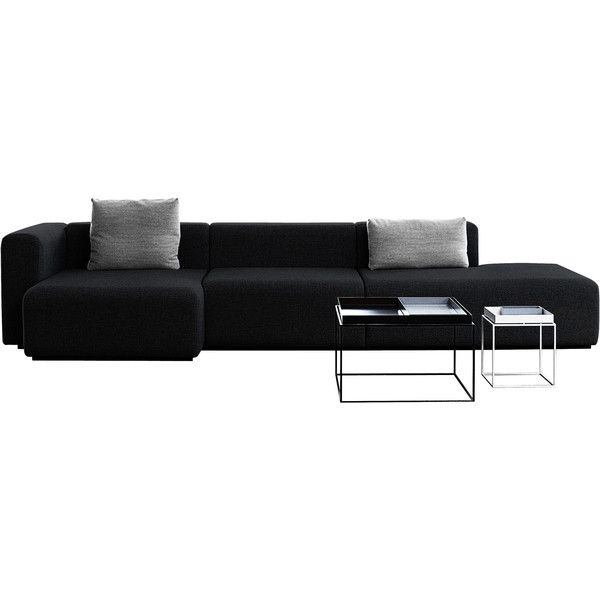 Hay mags sofa l 342 cm right armrest found on polyvore for Sofa modular gris