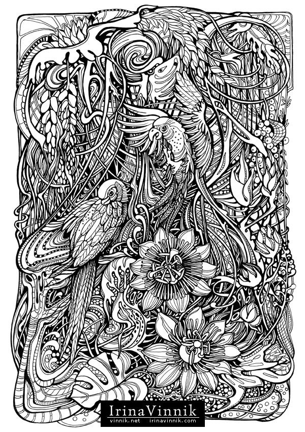 Manic Botanic Zifflins Tension Taming Coloring Book Invites You To Get In Touch With Nature All Of Its Glory
