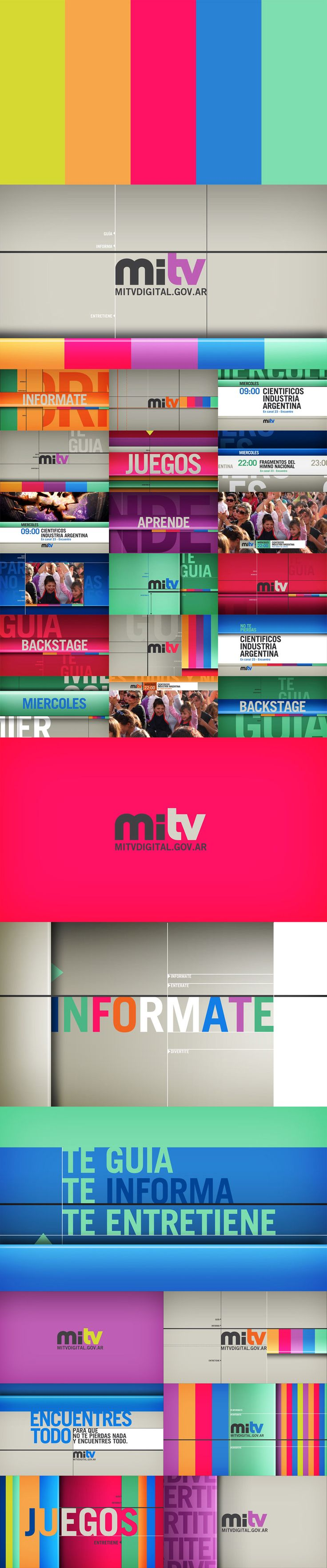 MiTv - Channel Branding Design & animation. PALIS. palis.com.ar