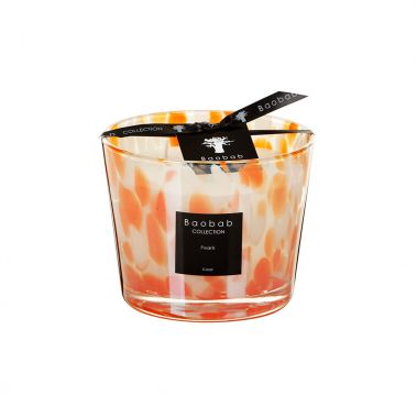 PEARLS Coral Scented Candle 10 cm