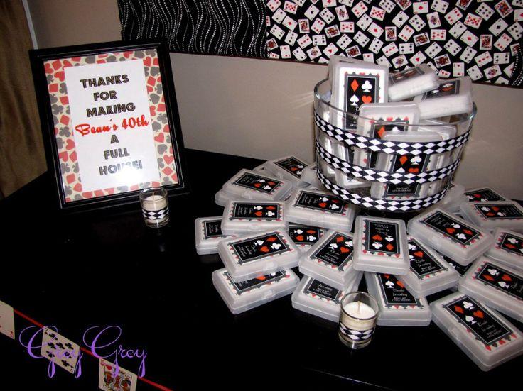 adult 40th las vegas casino birthday party ideas