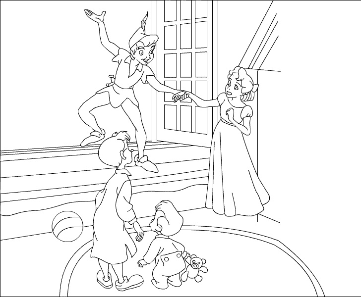 Peter Pan Coloring Pages Search Book