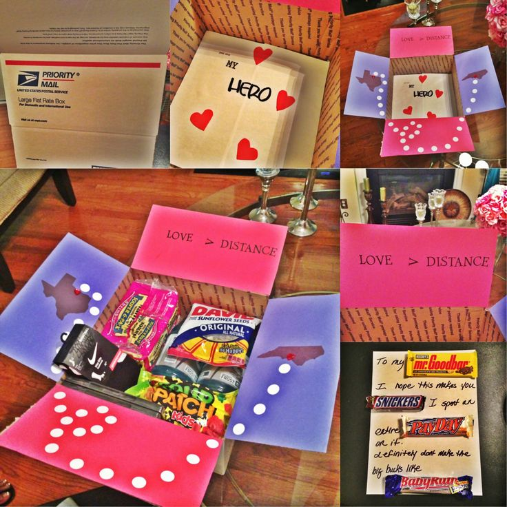 Even though my boyfriend isn't deployed, I thought it would be nice / fun to send him a care package while he's in tech school. Air Force Girlfriend ✈