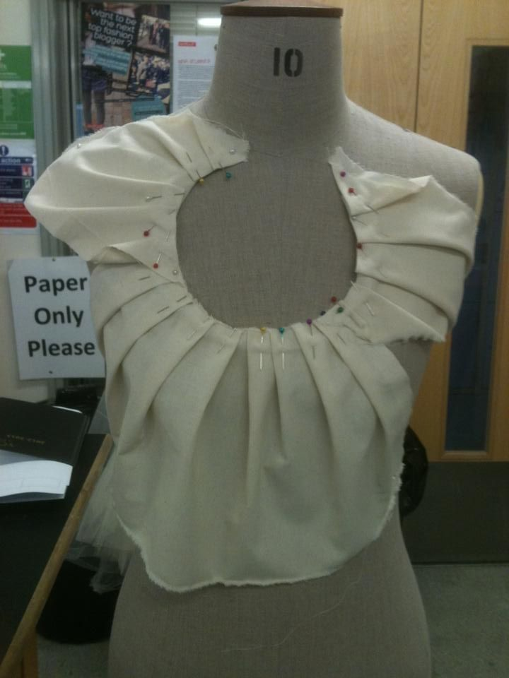 Draping on the stand - fashion design inspired by the Hubble telescope - pattern making; pleating; moulage; garment construction // Laura Sedman