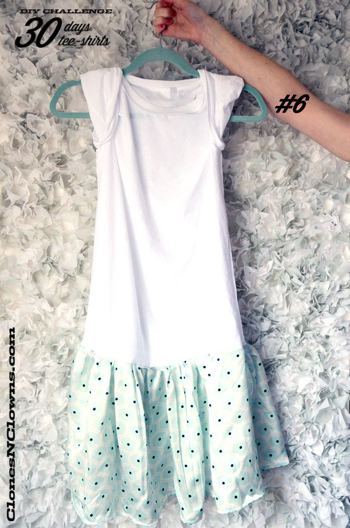 DIY 30 DAYS 30 TEE-SHIRTS : #6 Make a tee-shirt into a dress