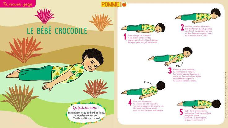 La pause yoga des petits : le bébé crocodile