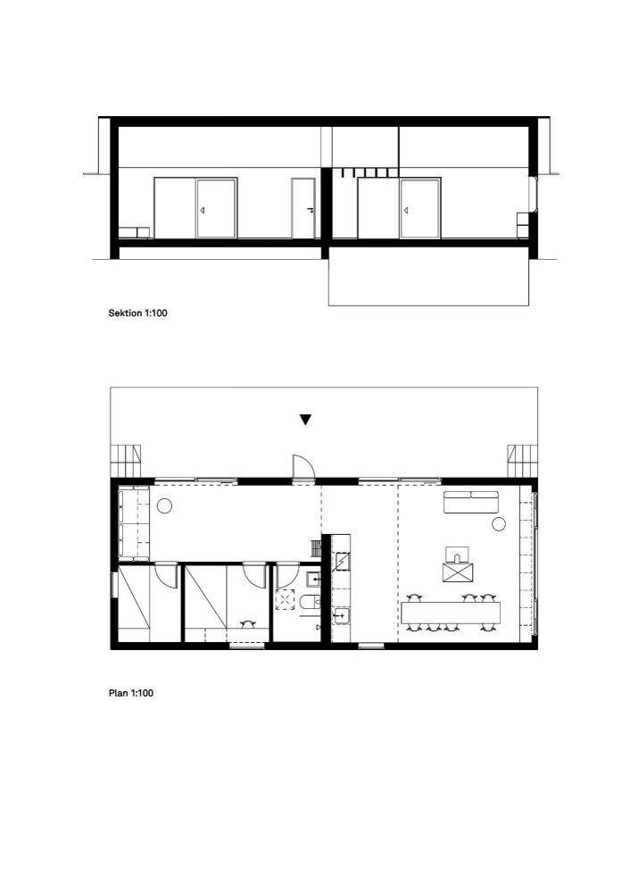 House Morran / Johannes Norlander Arkitektur Section & Plan – ArchDaily