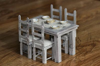 Stół i krzesło - tutorial na blogu