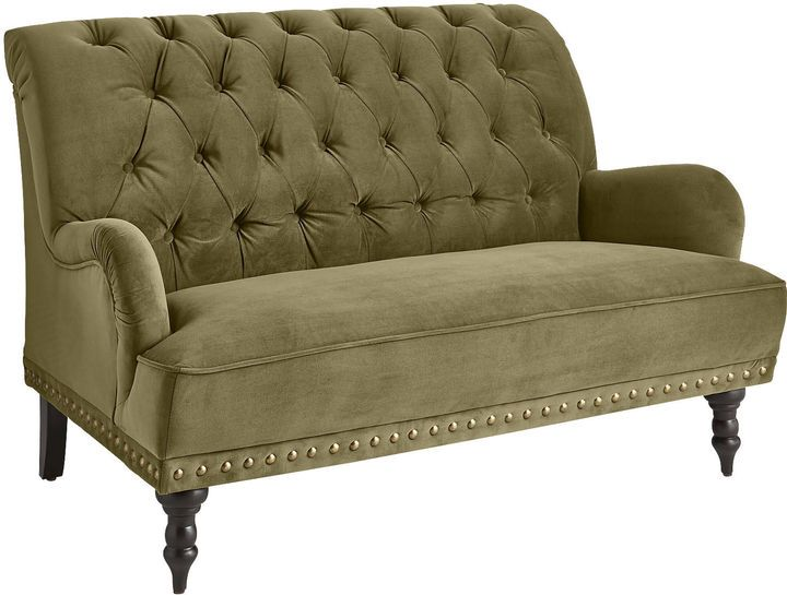 Loving this Chas Olive Green Velvet Loveseat, plus it's currently on sale!   #loveseat #livingroom #furniture #homedecor #affiliatelink