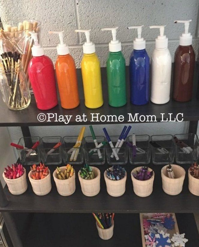 Dollar Tree Soap Dispenser : dollar, dispenser, Dollar, Paint, Bottles, Separating, Mediums, Color, Improve, Findi…, Classroom,, Kids,, Preschool