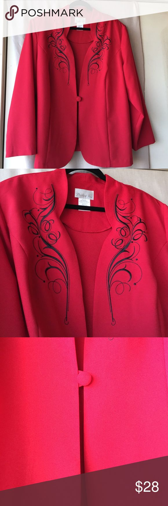 PRIDE &JOY  Size 24W Gorgeous NWOT Jacket Fabulous,dressy  jacket for all occasions Pride &Joy Jackets & Coats