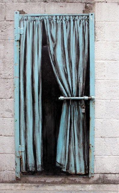 by Pejac in Seoul, S.Korea, 6/15 (LP) http://restreet.altervista.org/la-street-art-minimalista-di-pejac/