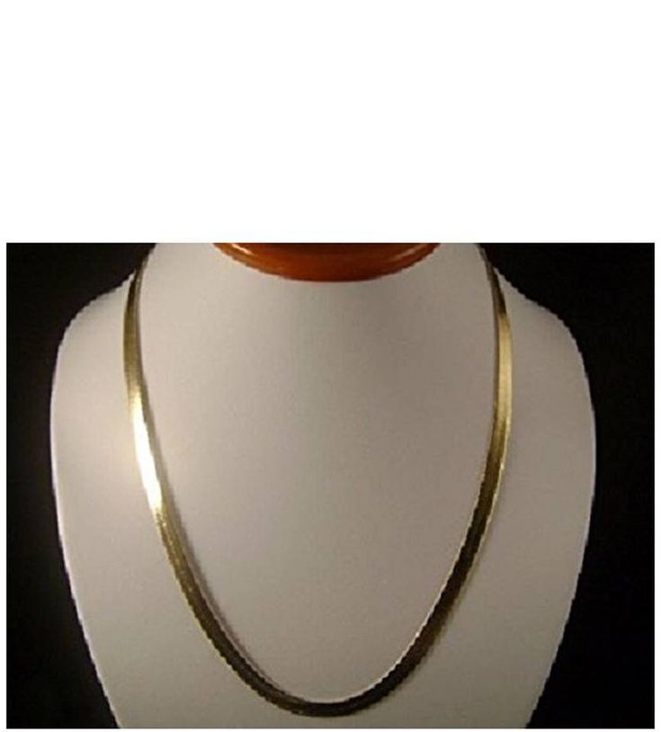 18k real god pvd herringbone flat chain necklace durable never fade