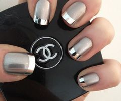 Chrome french tip