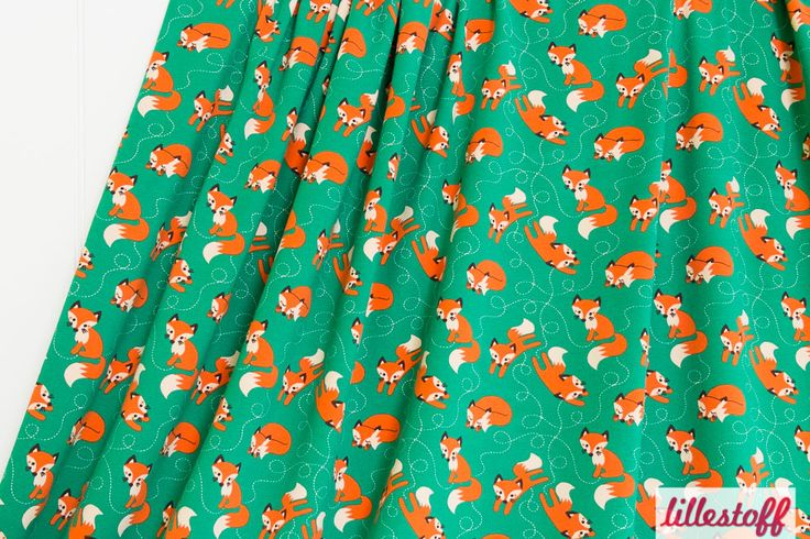 lillestoff » Fox green/orange « // Design: BORA // ausverkauft
