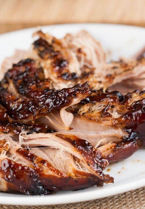 Crockpot Brown Sugar Balsamic Glazed Pork Tenderloin ~ FoodGaZm..