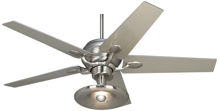 Basement Ceiling Fan : Casa optima brushed steel light kit ceiling fan