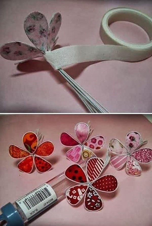 17 mejores ideas sobre flores de alambre en pinterest - Manualidades de telas ...