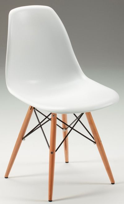 Beam side chair in White