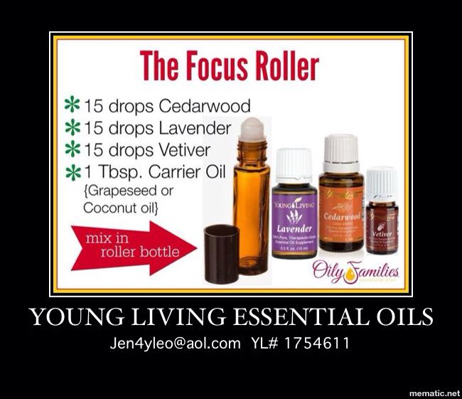 Young Living Essential Oils for focus, memory, concentration