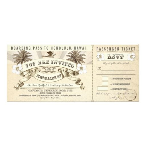wedding boarding pass tickets - invitations How toReview from Associated Store with this Deal...