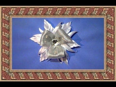 Снежинка кучерявая.DIY.Новогодние поделки своими руками Мастер класс.Christmas snowflake.