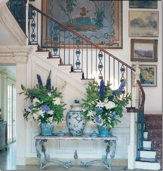 Florals in Ginger Jars..love  Chinoiserie Chic Blog