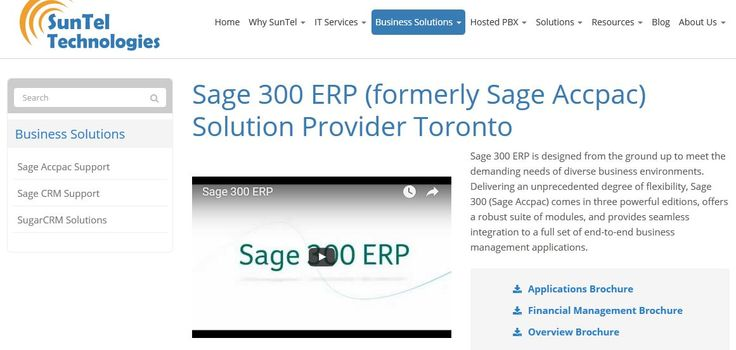 Sage 300 ERP Accpac Support Services in Toronto