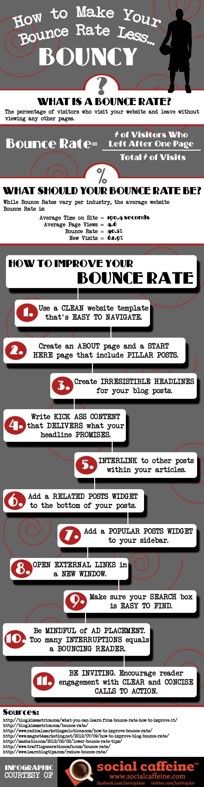 How to make your website's bounce rate less...bouncy. #infographic