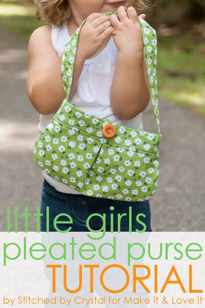 Learn how to sew this adorable little pleated purse for your little girl