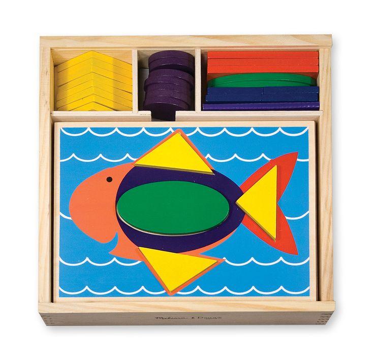 Patrones con figuras geométricas y tableros principiantes (tipo Tangrama) | Juguetería Kukubaya.com