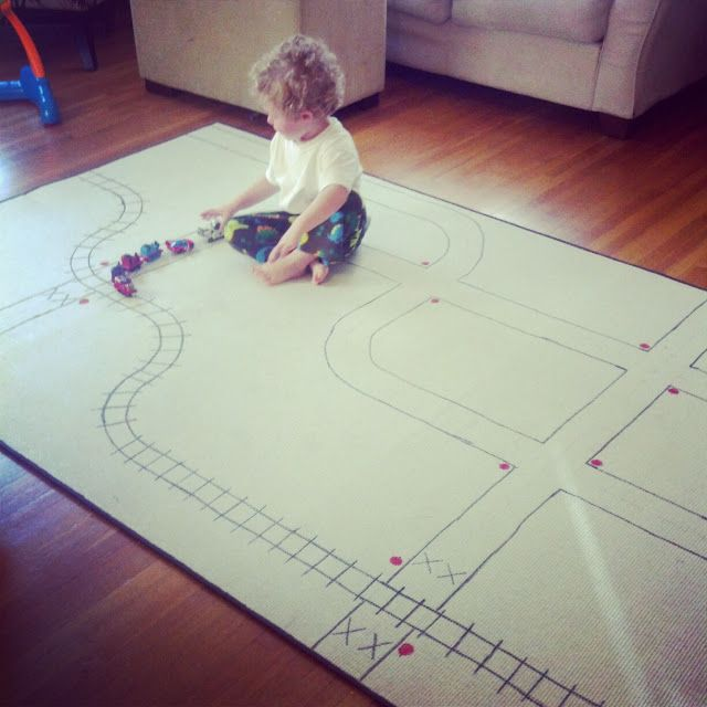 DIY Rug Train Track And Fun Indoor Activities