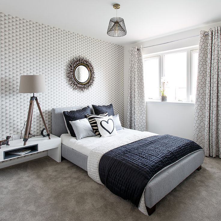 The simple lines of one of the bedrooms at Walker Group's Hopefield Park in Bonnyrigg
