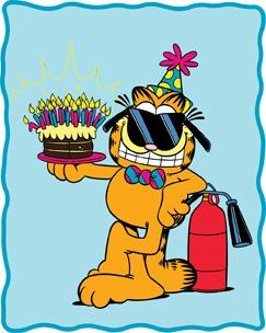 Another Year Older? ... That Old!! ... The Good News, CAKE ... and just in case, a good fire extinguisher at hand!☺