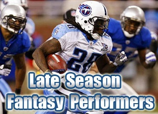 Best Fantasy RB Late Season 2011 Performers